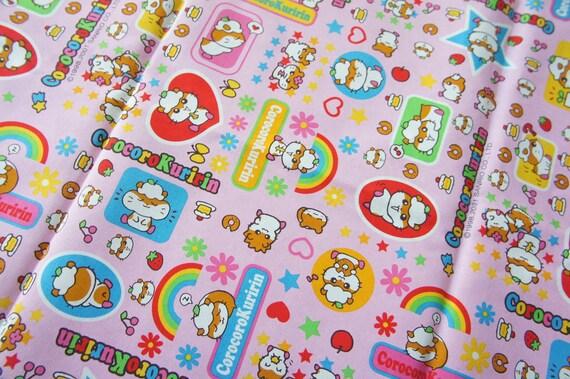 Only One CorocoroKuririn Fabric (Fat Quarter) Pink