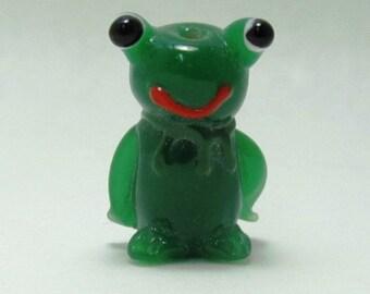 Dermit the Frog Lampwork Bead - Focal