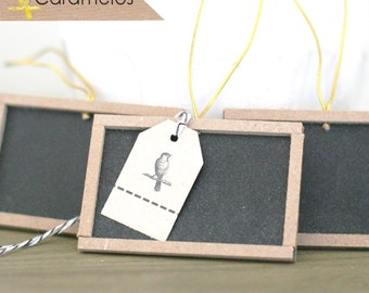 "Set of 3 Mini Wooden unfinished chalkboards 2""x3"""