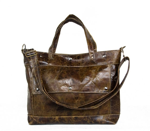 Archive Bag in Tree Bark Brown Leather - Ready to Ship