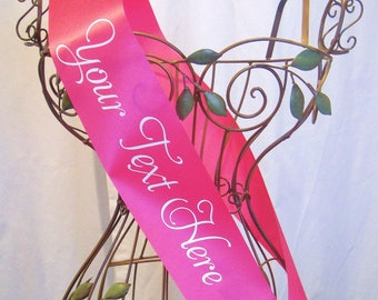 Custom Personalized Sash - Choose Your Colors