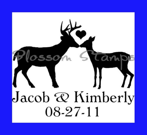 Reserved For Kelsee Buck And Doe Deer Love Personalized