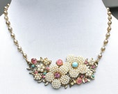 Pastel Floral Bridal Fairy Tale Necklace
