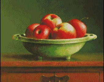 STILL LIFE With APPLES cross stitch pattern No.717