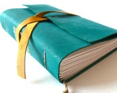 FREE SHIPPING, Personalised Leather Journal, Teal
