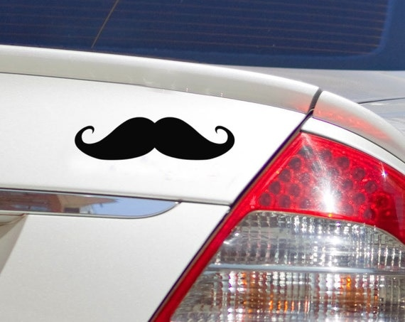 Mustache Decal Handlebar Moustache Car decal, Modern pop culture vinyl decals Ron Swanson manly Man stache
