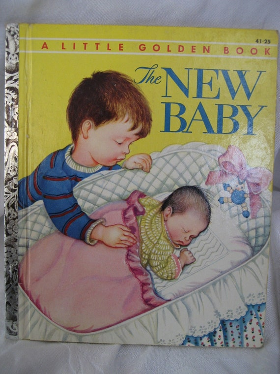 Vintage 1st Edition 1948 The New Baby Little Golden Book