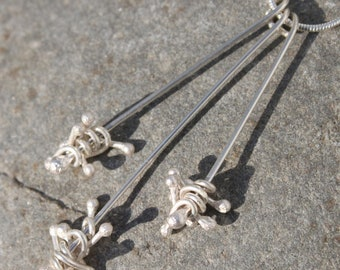 "Set of 3 Long Silver ""Jack"" Pendants"