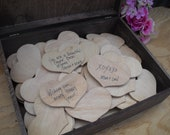 GUEST BOOK Rustic Wedding Wood Personalized Engraved ALTERNATIVE Set for 150 guests - Item 1442