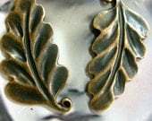 Clearance Antique Copper Ox Plated Leaf  Charms 614COP x2