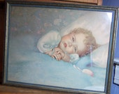 1920s  Baby  Print Heavens Gift  by Annie Benson Muller