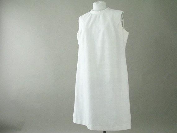 1970s Dress White Vintage Catherine's Knit Dress Modern Size 18 XL