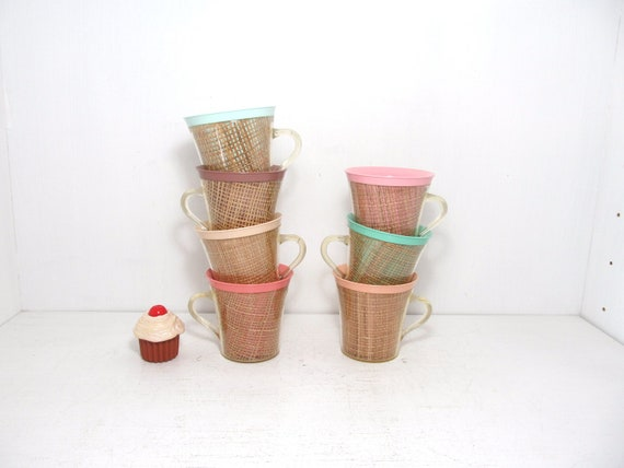 Vintage Colorful Cups