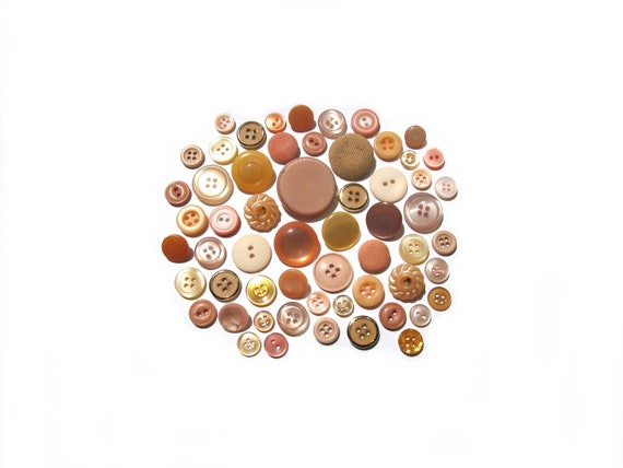 RESERVED for Lmmaxwe2- Vintage Buttons- Just Peachy