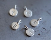 Single Sterling Silver Tiny Initial Charm