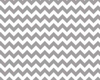 Riley Blake Designs, Small Chevron in Gray (C340-40)