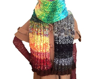 4 Seasons 3 Ways PDF Scarf/Infinity Loop Scarf/Cocoon Jacket pattern from Knittique