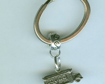 Silver SCHOOL BUS Keychain, Key Chain, Keyring, Key Ring - School, Bus Driver