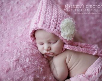 Crochet Baby Hat, Baby Girl Hat, Newborn Girl Hat, Infant Girl Hat, Baby Flower Hat, Baby Photo Prop, Baby Coming Home Hat, Baby Shower Gift