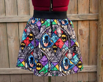 Batman Skirt, Batman Mini Skirt, Comic Book Skirts, The Joker, Geekery, womens skirts, Geek clothing
