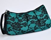 COMPLETELY CUSTOM - Lace Pleated Wristlet - you pick the color