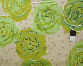 Valori Wells FVW15 Urban Flannels Roses Green Cotton FLANNEL Fabric 1 Yard