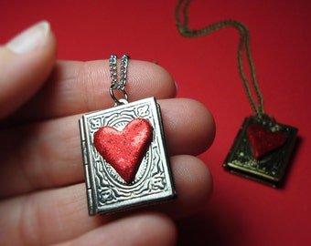 Book Lover Locket Necklace