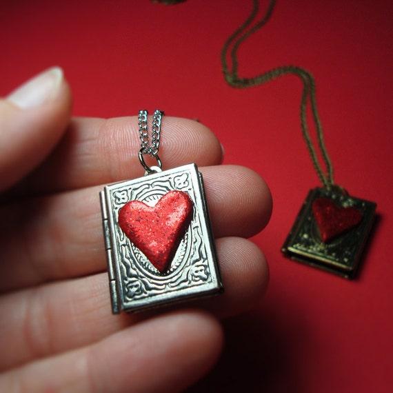 Book Lover Locket Necklace