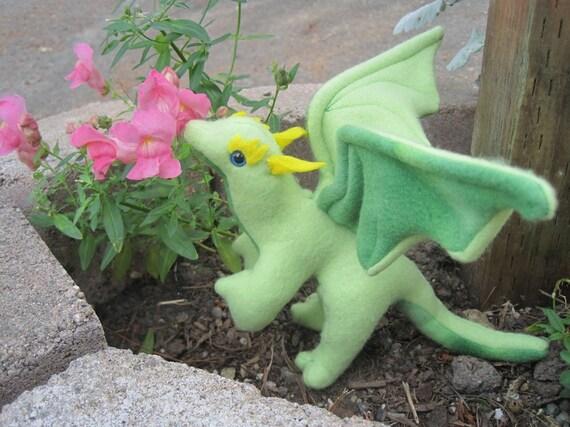 Snap the Mini Green Stuffed Dragon