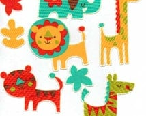Friendly Jungle Animals - Iron On Fabric Appliques