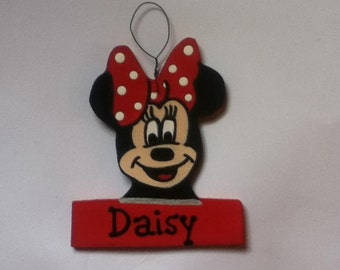 Minnie Mouse Christmas Ornament - Personalized