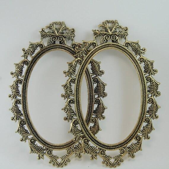 Pair of Vintage Gold Ornate Frames