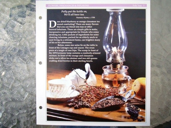 Folk Teas Recipes - Strawberry Leaf Tea, Country Home Fragrancer, Almond Cranberry Tea, and More - Plus Flavored Sugars Recipe