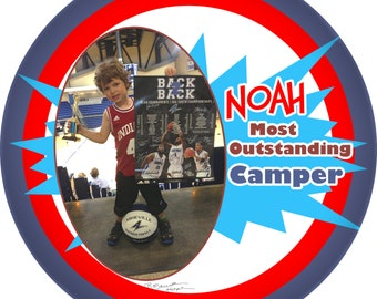 Most outstanding Camper 10 inch  personalized melamine plate customize with photo Super outstanding Camper, special award plate