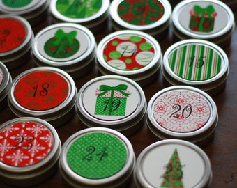 Reusable 25-day countdown to Christmas Advent Calendar - Set Number 3