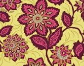 Cotton Quilt Fabric:  Joel Dewberry Heirloom Garnet Ornate Floral- One yard listing