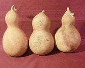 Gourds 3 Pretty Bottle/Snowman Gourds Heavy, Hard Like WOOD (Item 10)