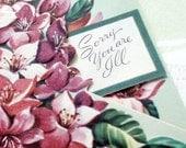 Vintage Unique Cut Out Get Well Paper Card 1940s
