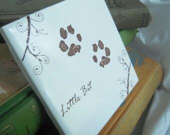 personalized ceramic tile pet  memorial