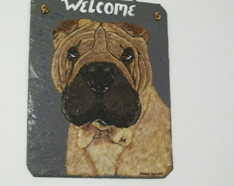 Shar-Pei Welcome Slate