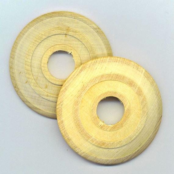 2 Large Wooden Cabochons . Hard Wood Discs . Wood  Circle - DESTASH by enchantedbeas on Etsy
