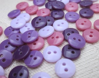 Mini Heather Purple Buttons