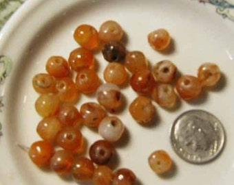 African Carnelian Rounds - 30 pcs. - CRN1218Q
