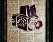 Vintage Hasselblad Camera --Vintage Dictionary Art Print---Fits 8x10 Mat or Frame