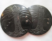Vintage Sash Buckle - Lighthouses