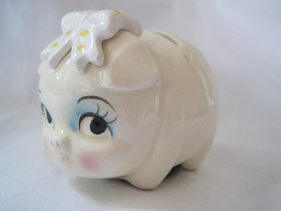 Vintage Piggy Bank - Lefton