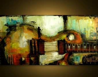 Original Painting - Modern Abstract Art by SLAZO - 24x48 Made to Order