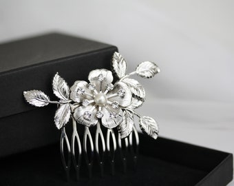 Small Bridal Hair Comb Wedding Hair Comb Vintage Floral Leaf Leaves Wedding Hair Accessories, LISSE