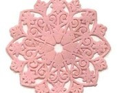 Dresden Trim Matte Light Pink Medallions Halos Made In Germany 4 Die Cuts Christmas