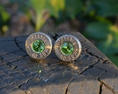 Bullet earrings stud earrings or post earrings Winchester .40 S&W silver earrinngs bullet jewelry Handcrafted with Swarovski crystals